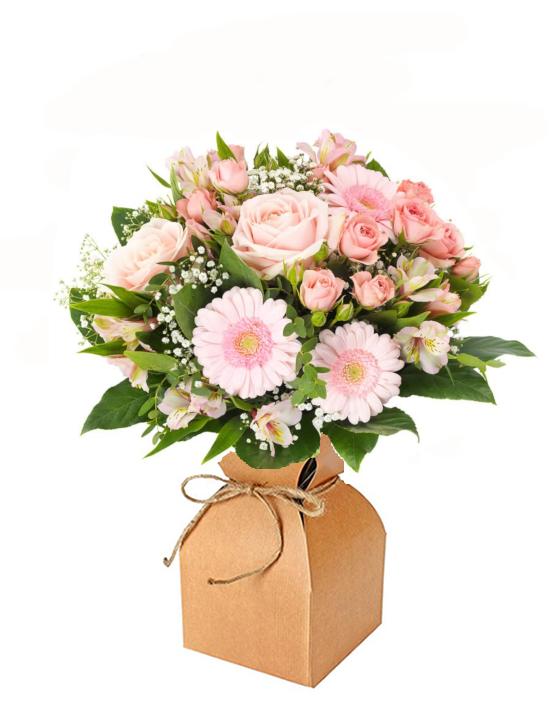 veldboeket rose doosje